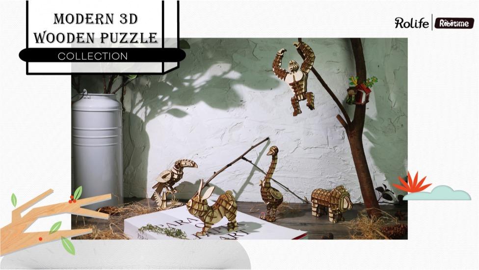 3D Wooden Laser Cut Puzzles
